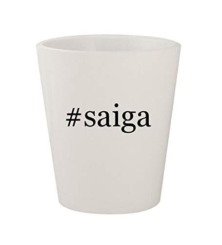 #saiga - Ceramic White Hashtag 1.5oz Shot Glass