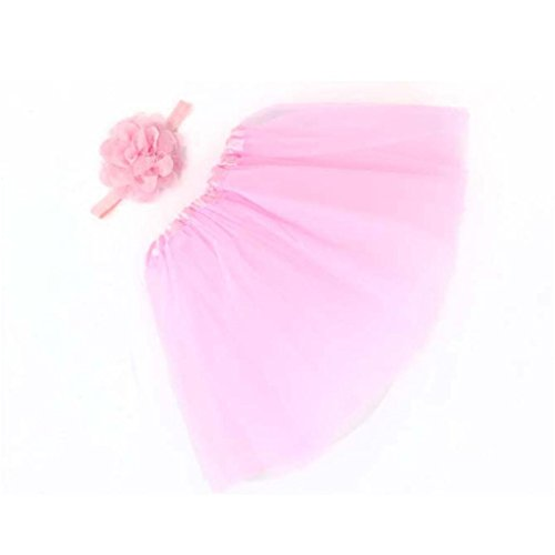 Flower Hairband Pink Toddler Girl Yellow Dress Skirt Haoricu Baby For Photography 2Pcs Newborn Lace zwCxq8