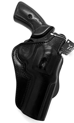 TAGUA Premium Deluxe Right Hand Rotating Paddle and Belt Holster with Reinforced Thumb Break in Black Leather for SMITH & WESSON S&W N-FRAME REVOLVER 4