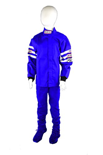 Junior Driving Suits - JUNIOR BLUE 2 PIECE FIRE SUIT RACING JACKET & PANTS SIZE 14/16 SFI 3-2A/1 RJS XS