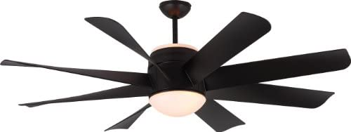 Monte Carlo 8TNR56BKD, Turbine, 56 Ceiling Fan, Black