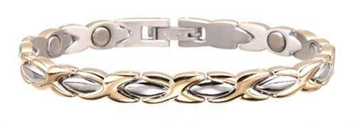 Sabona Lady Executive Dress Gold Duet Magnetic Bracelet - Medium