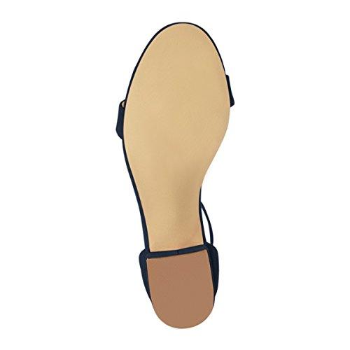 Sandalias De Correa De Tobillo De Las Mujeres Del Verano Fsj Punta Abierta Grueso Del Talón Bajo Zapatos Cómodos Para Caminar Tamaño 4-15 Nos Azul Marino Ofertas especiales Precio barato Visitar jfDTCtbc9j