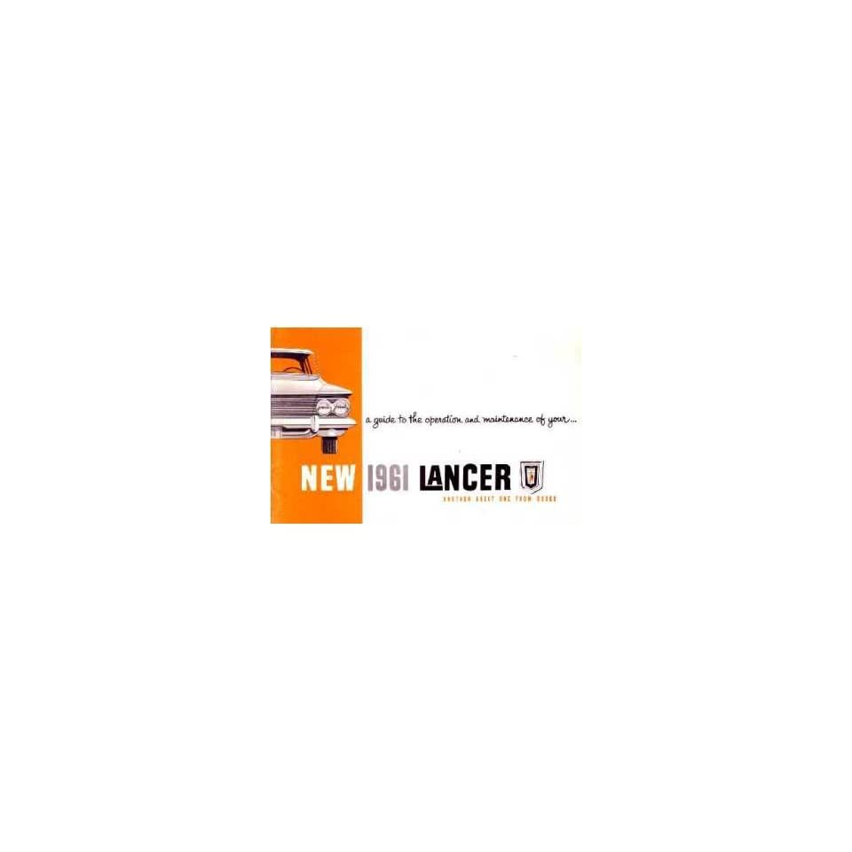 1961 Dodge Lancer Owners Manual User Guide Reference Operator Book Fuses