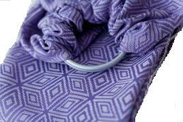 Little Frog Ring Sling Lavender Cube Jacquard Size M Baby Carrier