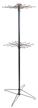64 2-tier Black Metal Spinning Merchandise Display Wire Rack Spinner Rotary