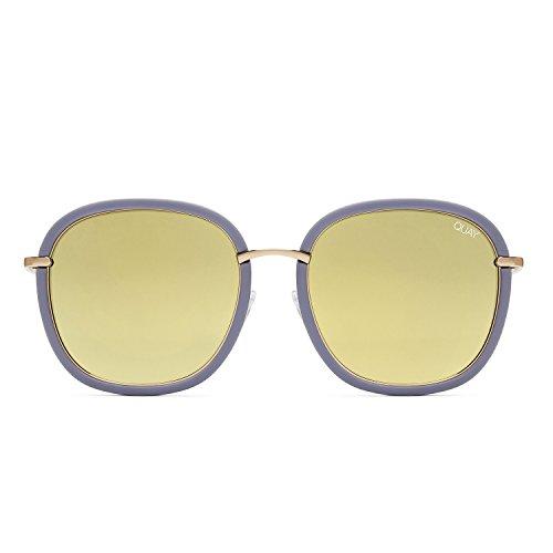 Quay Australia DREAMY WAYS Women's Sunglasses Metal Accent Sunnies - - Gold Australian Sunglasses