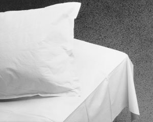 GRAHAM MEDICAL TISSUE DRAPE & BED SHEETS Bed Sheet, White, 40'' x 72'', 2-Ply, 50/cs (48 cs/plt)