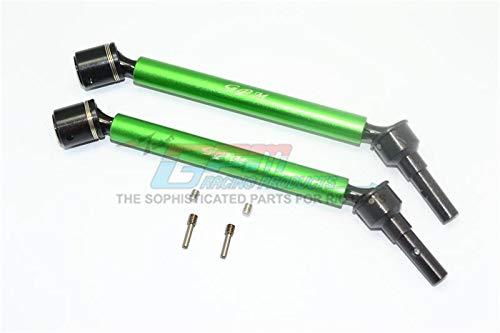 Traxxas E-Revo 2.0 VXL Brushless (86086-4) Upgrade Parts Aluminum Body & Steel Joint Adjustable Front / Rear CVD Shaft - 1Pr Set Green ()