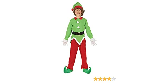 GUIRMA Elfo Elfo Disfraz ayudante niño Santa Claus: Amazon.es ...