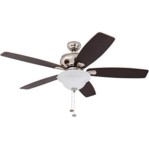 Honeywell Ceiling Fans 50869-01 Dunham Ceiling Fan, 52, Satin Nickel