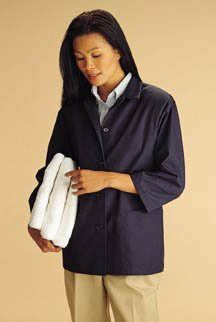 Smock Housekeeping ([Itm] Rich Royal, Large [Acsry To]: 3/4 Sleeve Smock - Rich Royal, Large)