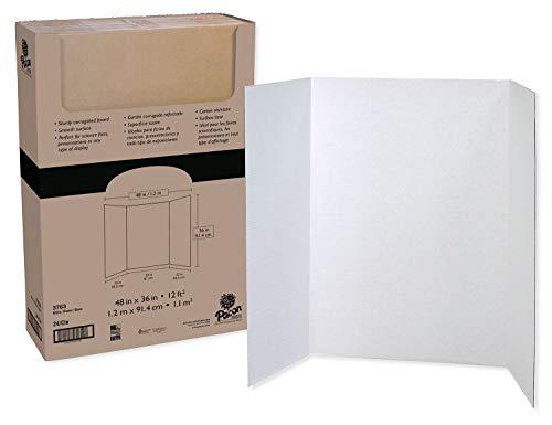 Spotlight Presentation Board - Pacon Tri-Fold Presentation Board, White, 48