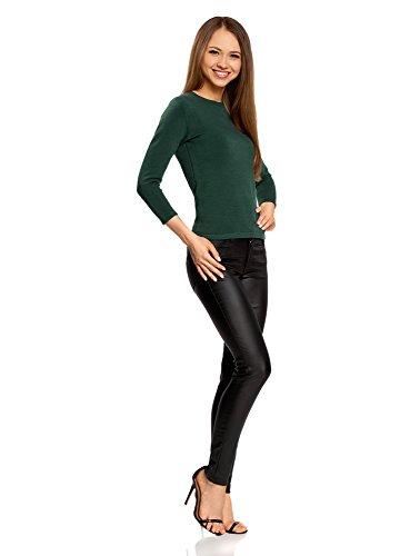 oodji Maniche Maglia Verde Basic 6901n Donna a 4 Ultra con 3 XEwArWxXq7
