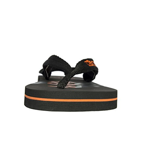Kappa , Tongs pour garçon noir noir/orange