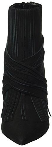 Buffalo London 130312b Nobuck, Botines Para Mujer Negro (BLACK 01)