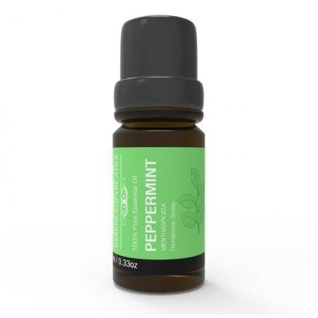 (Top Aromatherapy Peppermint Essential Oil 100% Pure (10ml Each) - Therapeutic Grade Oil (downloadable Diffuser Recipe Book) Ideal for Massage, Diffusers, Humidifiers + Perfect Gifts ... (Peppermint))