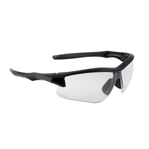 Howard Leight r-02214 Acadia Safety Eyewear w / Uvextreme Plus曇り止めレンズ、クリアレンズ、オレンジ [並行輸入品]  B078RD5D8Z