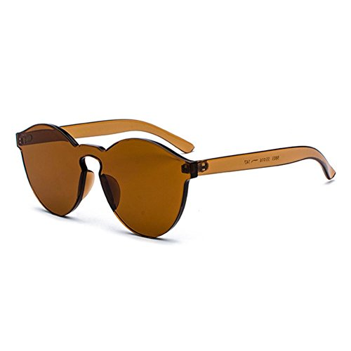 hibote élégantes lunettes de soleil transparentes femmes hommes lunettes intégrées rouge bonbons C1