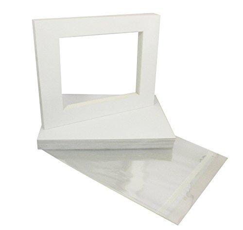 【即発送可能】 20 11x14 4-ply mat 4x6 WHITE for 4x6 Photo 4-ply with [並行輸入品] Back + Bag [並行輸入品] B019SZ9IPK, HoneyDo:99bab47b --- arianechie.dominiotemporario.com
