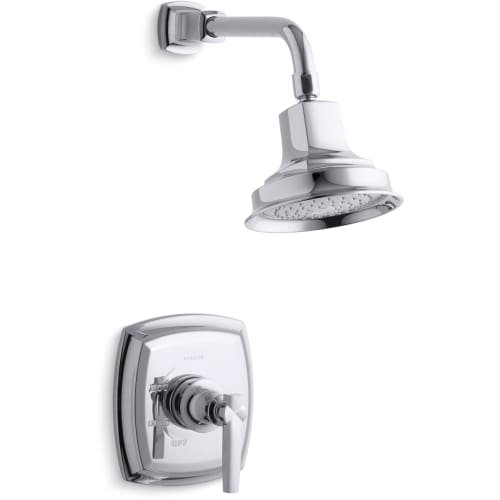 KOHLER TS16234-4-CP Margaux(R) Rite-Temp(R) Shower Valve Trim with Lever Handle and 2.5 Gpm Showerhead (R) (R), 1