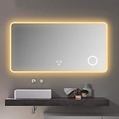Beauty mirror Led Anti-fog Makeup Mirror Bathroom Smart Touch Screen Wall Hanging Table Vanity Mirror Dressing mirror