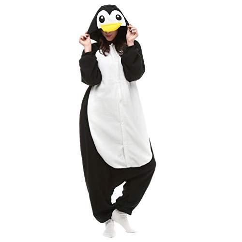 Unisex Adult Animal Pajamas Custome Cosplay for Halloween Christmas (Small, Black Penguin) -