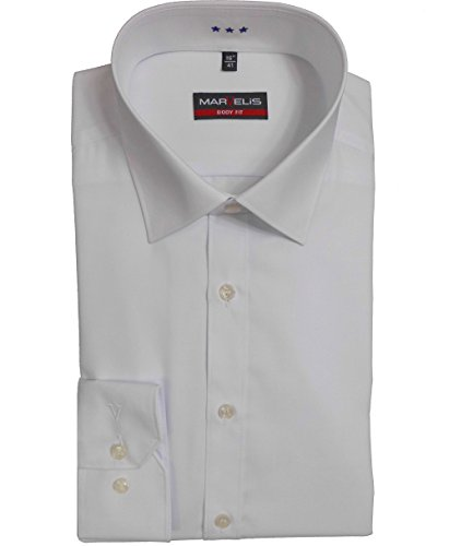 3pezzi Marvelis Camicia Body Fit Bianco 6799.69.00Extra Lungo Braccio 69cm bianco L