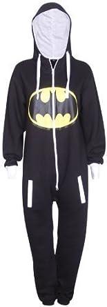 5c90a7455aa07 Purple Hanger - Combinaison Grenouillère Femme Logo Batman Superman Manche  Longue Capuche Tout En Un -