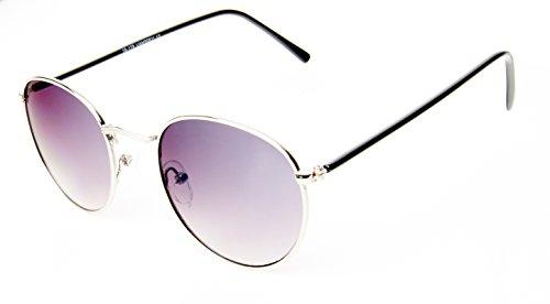 soleil rondes lunettes or net miroir lilas style John Des de 400UV lunettes métallique Chic Lennon cadre qY6wEd