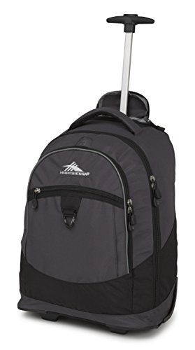 High Sierra Chaser Wheeled Backpack, Mercury/Black
