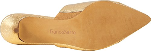 Franco Sarto Womens Doxie Mule Gold Snake