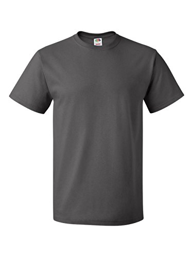 Fruit of the Loom Men's Short Sleeve Crew Tee, Small  - Charcoal Grey ()