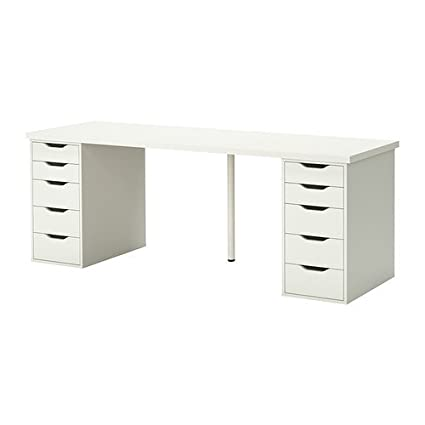 IKEA Table with 10 Drawers, White 122020 11820 3834