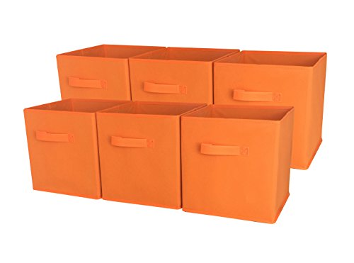 Sodynee SCB6OR Foldable Cloth Storage Cube Basket Bins