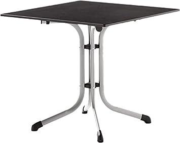 Mesa de jardín mesa plegable 80 x 80 cm grafito 1130 – 50: Amazon ...
