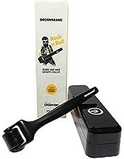 Skäggrulle för män GROOMARANG 0,5 mm Derma Roller för skäggtillväxt med 540 titannålar - lämplig för användning på ansikte och hårbotten - Inkluderar förvaringsfodral