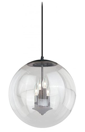 (Vaxcel P0126 630 Series Pendant with Clear Glass, 15-3/4