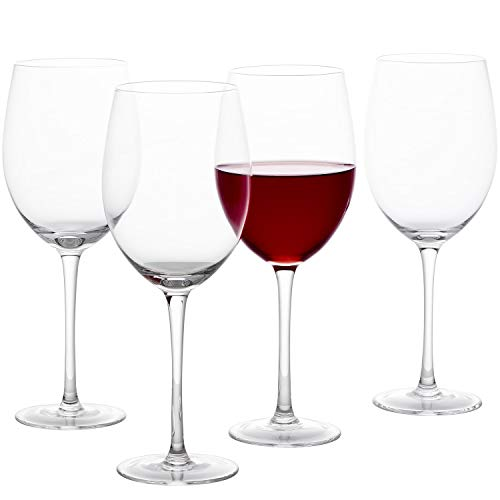 GoodGlassware Wine Glasses (Set Of 4) 19 oz - Crystal Clear Clarity, Classic Bowl Design Perfect for Both Red and White Wines - Lead Free Glass, Dishwasher Safe, Quality All-Purpose Stemware