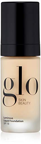 Glo Skin Beauty Luminous Liquid SPF 18 Foundation in Alabaster | 10 Shades | Sheer Coverage, Dewy Finish | 1 fl. Oz.