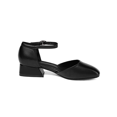 PINGXIANNV Prägnante Dame Elegant Elegant Elegant Schuhe Leder Eckige Kappe Low Heels Offcie Damen Schnalle Frau Pumpen B07PCP9D8Z Tanzschuhe Flagship-Store 626c62