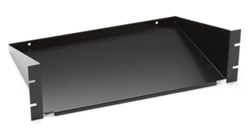 Black Box Fixed, 3U 19'' Rackmount Solid Shelf 12''D, 2-Point by Black Box