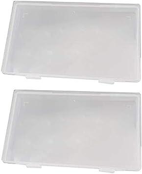 Moligh doll 2 Piezas PortáTil Transparente Desechable Caso Contenedor Caja de Almacenamiento Caja a Prueba de Polvo Organizador de Almacenamiento