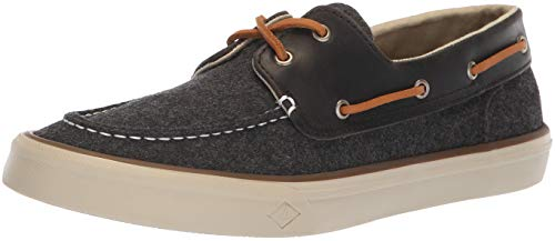 SPERRY Men's Bahama II Boat Wool Sneaker, Dark Grey, 12 M US