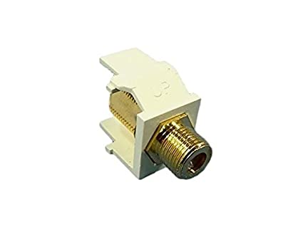 New Leviton Almond Quickport Gold Coaxial Cable Connector Jack Coax 40831-BA
