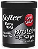 Softee Protein Styling Gel - Extra Hold, Alcohol-Free Black 15 oz.
