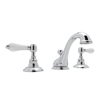 Rohl A1408LPAPC 2 Country Bath Viaggio Widespread Lavatory Faucet With  Porcelain Levers Pop Up
