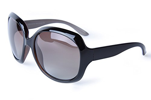 corciova Classia Simple Oversized Women's Polarized Sunglasses UV400 Black and - Trademark Sunglasses