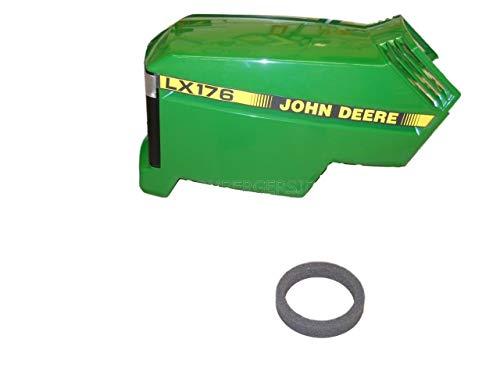 Photo John Deere LX176 New Complete Hood Assembly AM132526 AM117723 M110378