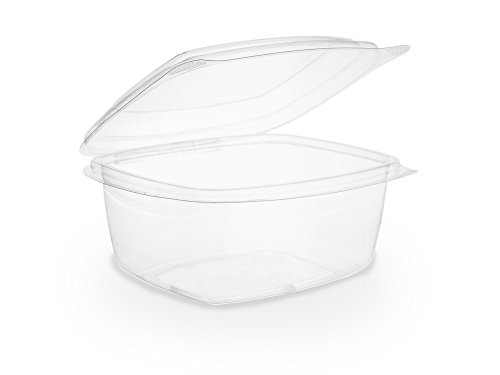 Vegware VHD-16 Hinged Deli Container, 16 oz, PLA (Pack of 300)